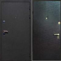 Входная техническая дверь с порошковым напылением и винилискожей