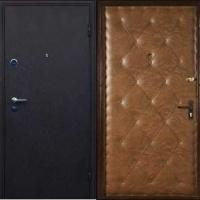 Входная дверь в квартиру с порошковым напылением и винилискожей с рисунком