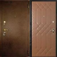Железная дверь в квартиру с порошковым напылением и винилискожей с рисунком