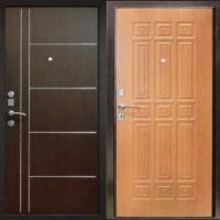 Стальная дверь в квартиру с МДФ с двух сторон
