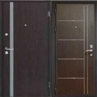Стальная дверь в квартиру с порошковым напылением и МДФ