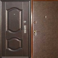 Железная дверь в квартиру с МДФ и винилискожей