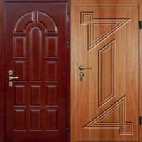 Входная дверь в квартиру с МДФ с двух сторон