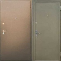 Стальная дверь в квартиру с порошковым напылением с двух сторон