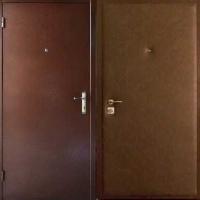 Железная дверь в квартиру с порошковым напылением и винилискожей