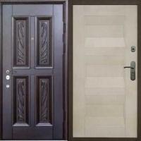 Стальная дверь в квартиру с массивом и МДФ