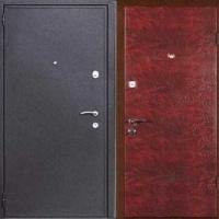 Стальная дверь в квартиру с порошковым напылением и винилискожей