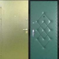 Входная дверь в квартиру с порошковым напылением и винилискожей