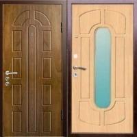 Металлическая дверь в квартиру с МДФ с 2-х сторон с зеркалом