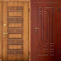 Входная дверь в квартиру с массивом с 2х сторон