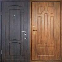 Стальная дверь в квартиру с массивом с 2-х сторон