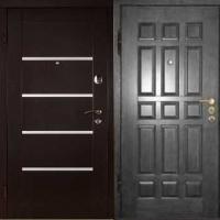 Металлическая дверь в квартиру с МДФ с двух сторон