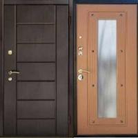 Входная дверь в квартиру с МДФ с 2-х сторон с зеркалом