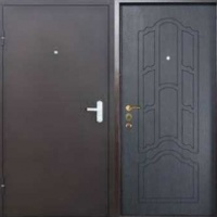 Металлическая дверь в квартиру с порошковым напылением и МДФ