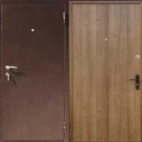 Железная дверь с порошковым напылением и ламинатом