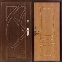 Стальная дверь в квартиру с МДФ с 2-х сторон