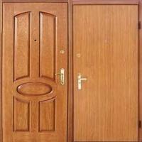 Железная дверь в квартиру с МДФ и ламинатом