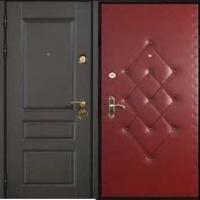 Входная дверь в квартиру с МДФ и винилискожей с рисунком