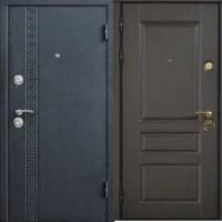 Стальная уличная дверь с порошковым напылением и МДФ