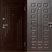 Железная уличная дверь с порошковым напылением и МДФ