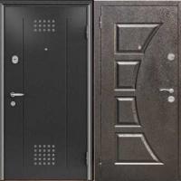 Входная уличная дверь с порошковым напылением с двух сторон