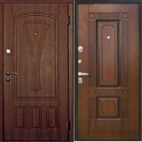 Железная уличная дверь с массивом с 2-х сторон