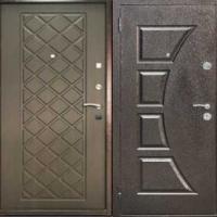 Входная уличная дверь с порошковым напылением с обоих сторон