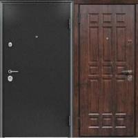 Металлическая уличная дверь с порошковым напылением и массивом