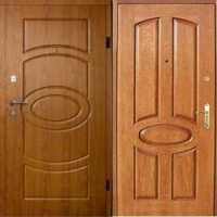 Железная уличная дверь с МДФ с 2-х сторон