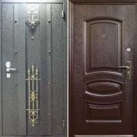 Металлическая уличная дверь с порошковым напылением и МДФ