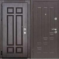 Входная уличная дверь с массивом и МДФ