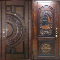 Входная уличная дверь с массивом с 2-х сторон