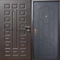 Металлическая уличная дверь с МДФ с 2-х сторон