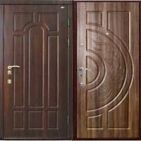 Железная уличная дверь с МДФ и массивом