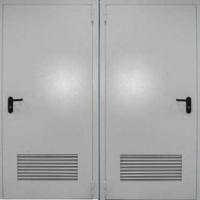 Железная противопожарная дверь с нитроокрасом