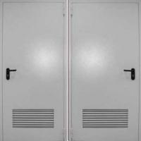 Металлическая противопожарная дверь с нитропокрасом с двух сторон