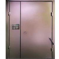 Металлическая дверь в подъезд с нитропокрасом с двух сторон