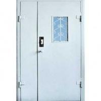 Металлическая тамбурная дверь с НЦ покрасом и стеклом с двух сторон