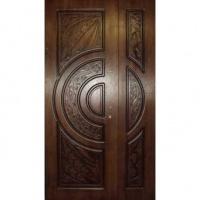 Железная тамбурная дверь с массивом с двух сторон
