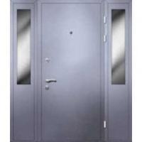 Железная тамбурная дверь с НЦ окрасом и стеклом с двух сторон